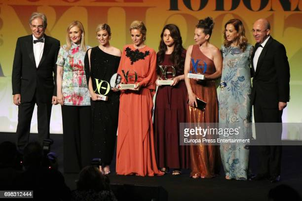 Cristina Cifuentes Blanca Suarez Alejandra Silva Nareen Shammo Mariola Fuentes Marta Michel and Francisco Rosell attend the 'Yo Dona' International...
