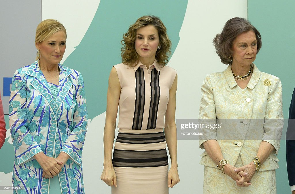 Cristina Cifuentes, Queen Letizia of Spain and Queen Sofia attend the FAD 30th Anniversary event at the Real Casa de Correos on June 22, 2016 in Madrid, Spain.