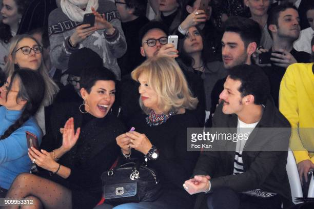 Cristina Cordula Amanda Lear and Vincent Dedienne attend the JeanPaul Gaultier Haute Couture Spring Summer 2018 show as part of Paris Fashion Week on...