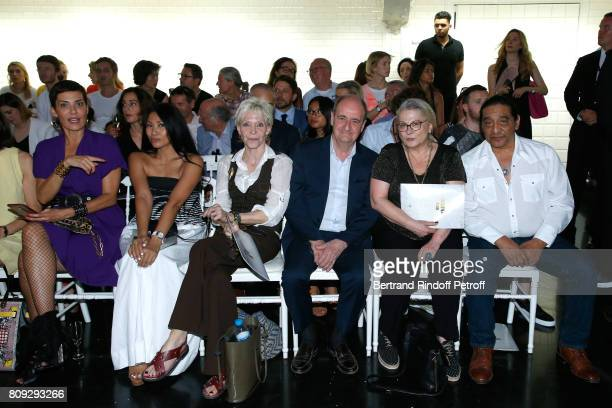 Cristina Cordula Anggun Tonie Marshall Pierre Lescure Josiane Balasko and her husband George Aguilar attend the Jean Paul Gaultier Haute Couture...