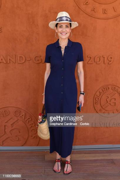 Cristina Cordula attends the 2019 French Tennis Open - Day Eight at Roland Garros on June 02, 2019 in Paris, France.