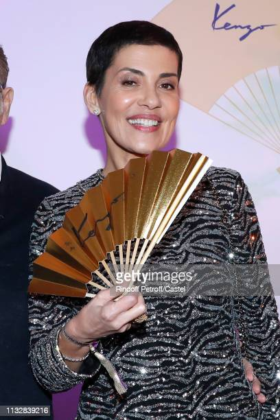 Cristina Cordula attends the 80th Kenzo Takada Birthday Party at Pavillon Ledoyen on February 28 2019 in Paris France