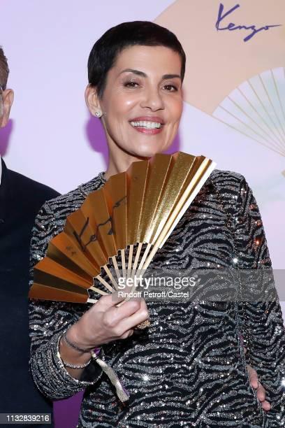 Cristina Cordula attends the 80th Kenzo Takada Birthday Party at Pavillon Ledoyen on February 28, 2019 in Paris, France.