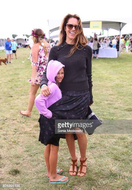 Cristina Cuomo and daughter attend the 20th Annual Super Saturday to benefit the Ovarian Cancer Research Fund Alliance at Nova's Ark Project on July...