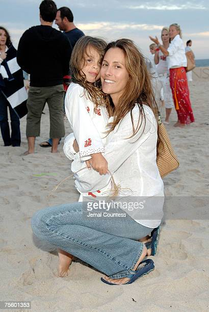 Cristina Cuomo and daughter Bella Cuomo at the Hamptons and Gotham Magazines Annual Clam Bake at Dune Beach in Southhampton Long Island on July 22...