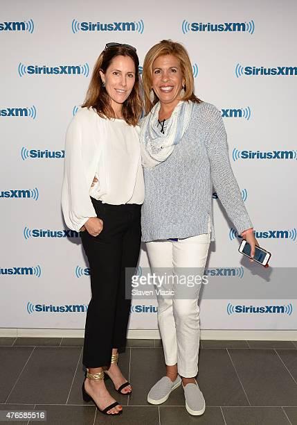 Cristina Cuomo and Hoda Kotb visit SiriusXM Studios on June 10, 2015 in New York City.