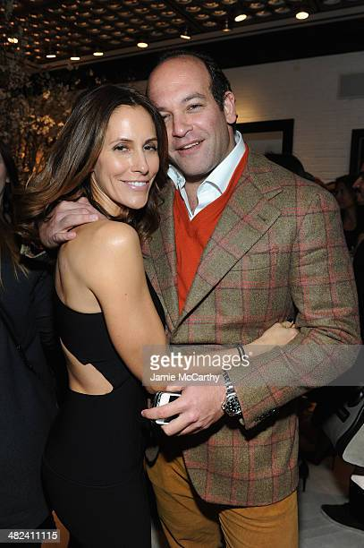 Cristina Cuomo and Todd Meister attend the Opening Of John Varvatos Madison Avenue on April 3 2014 in New York City