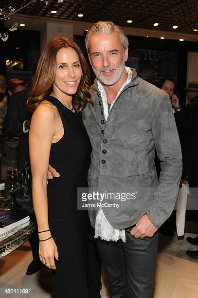 Cristina Cuomo and TR Prescod attend the Opening Of John Varvatos Madison Avenue on April 3 2014 in New York City