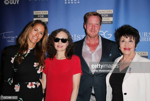 Cristina Cuomo Bebe Neuwirth Eric Gunhus and Chita Rivera attend the Dancers For Good 3rd Annual Benefit at Guild Hall on July 20 2018 in East...