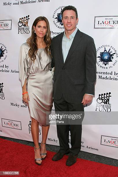 Cristina Cuomo, Editor-in-Chief of Manhattan Magazine and Christopher Cuomo, co-anchor of ABC's 20/20, attend Destination Fashion 2012 To Benefit The...