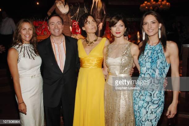 Cristina Cuomo Lawrence De Paris, President of Escada U.S., Minnie Driver, Jill Hennessy, and Zani Gugelmann