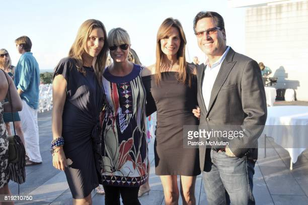 Cristina Cuomo Marcy Warren Gayle Sobel Dr Howard Sobel attend Toby Tucker Golf Collection Fashion Show at a private location on July 31 2010 in...