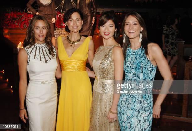 Cristina Cuomo, Minnie Driver, Jill Hennessy, and Zani Gugelmann