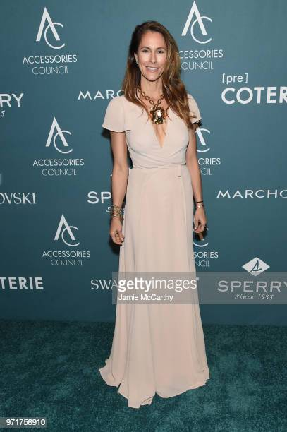 Cristina Cuomo poses backstage at the 22nd Annual Accessories Council ACE Awards at Cipriani 42nd Street on June 11, 2018 in New York City.