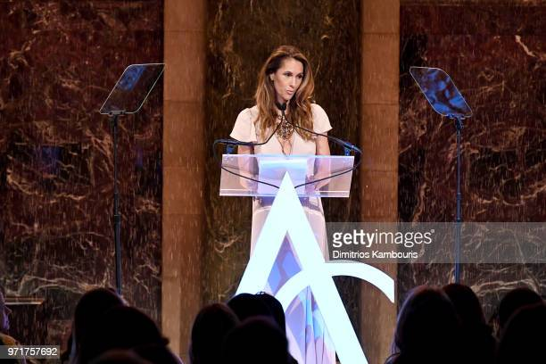 Cristina Cuomo speaks onstage at the 22nd Annual Accessories Council ACE Awards at Cipriani 42nd Street on June 11 2018 in New York City