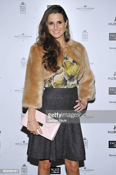 Cristina De Pin attends 'The Faces' Opening Exhibition on February 17 2014 in Milan Italy