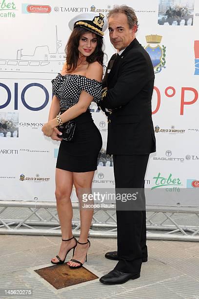 Cristina Del Basso and Giovanni Schiaffino attend the Dionea 50th Anniversary Party on June 2 2012 in Santa Margherita Ligure Italy