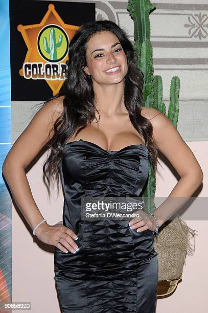 Cristina Del Basso attends 'Colorado' Tv Show Photocall on September 16 2009 in Milan Italy