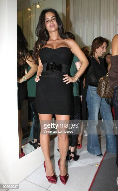 Cristina Del Basso attends the Vogue Fashion's Night Out at the Cesare Paciotti boutique on September 10 2009 in Milan Italy