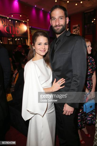 Cristina do Rego and her boyfriend Matthias Weidenhoefer during the BUNTE & BMW Festival Night 2018 on the occasion of the 68th Berlinale...
