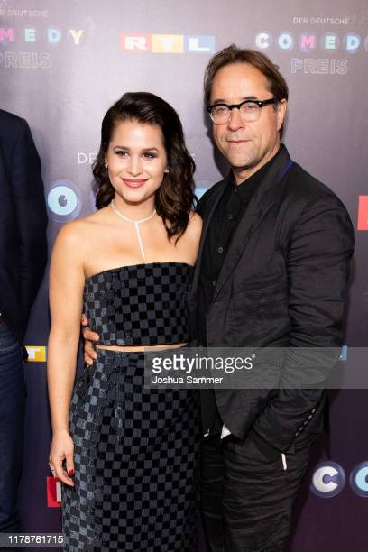 Cristina do Rego and Jan Josef Liefers attend the 23rd annual German Comedy Awards at Studio in Köln Mühlheim on October 02 2019 in Cologne Germany