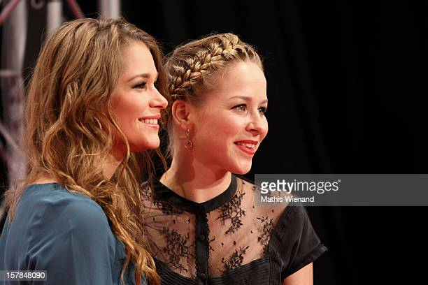 Cristina do Rego and Jasmin Schwiers attend the '1Live Krone' at Jahrhunderthalle on December 6 2012 in Bochum Germany