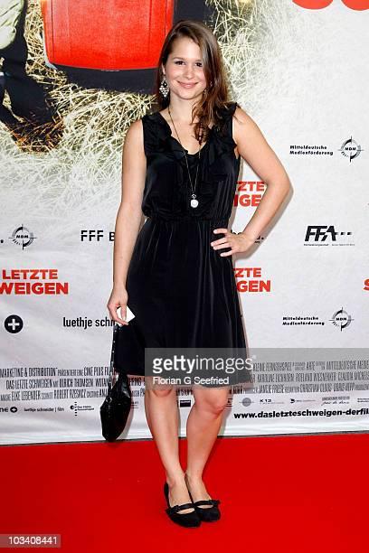 Cristina do Rego attends the German Premiere of 'Das Letzte Schweigen' at cinema International on August 16 2010 in Berlin Germany