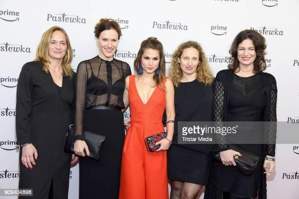Cristina do Rego, Bettina Lamprecht, Sonsee Neu and Sabine Vitua attend the 'Pastewka' premiere at Kino International on January 23, 2018 in Berlin,...