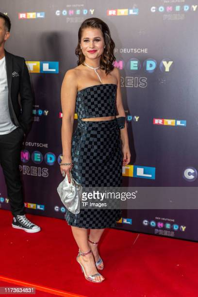 Cristina do Rego pose for the 23rd annual German Comedy Awards at Studio in Koeln Muehlheim on October 2 2019 in Cologne Germany