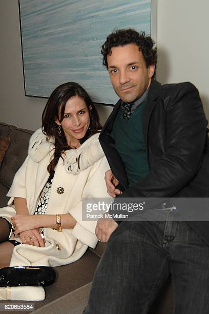 Cristina Ehrlich and George Kotsiopoulos attend Monique Lhuillier and Tom Bugbee celebrate their new home in honor of Margaret Russell and ELLE DECOR...