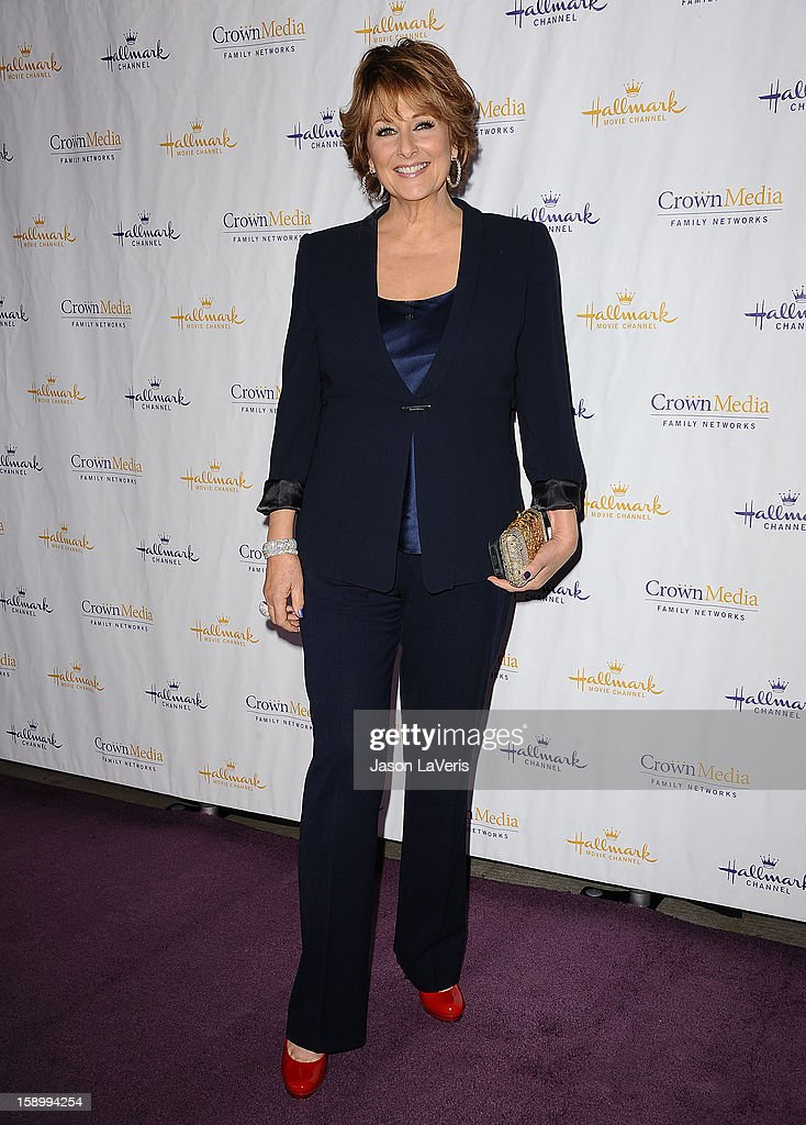 Cristina Ferrare attends the Hallmark Channel 2013 winter press gala at Huntington Library on January 4, 2013 in Pasadena, California.