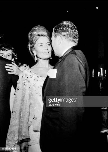Cristina Ford with husban Henry Ford II at Truman Capote BW Ball on November 28 1966 in New York New York