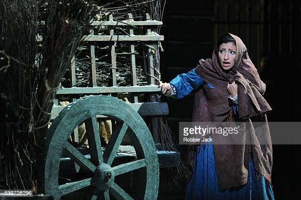 "Cristina Gallardo-Domas performs in the Royal Opera's production of Giacomo Puccini's opera ""La Boheme"" conducted by Cristian Badea and directed by..."