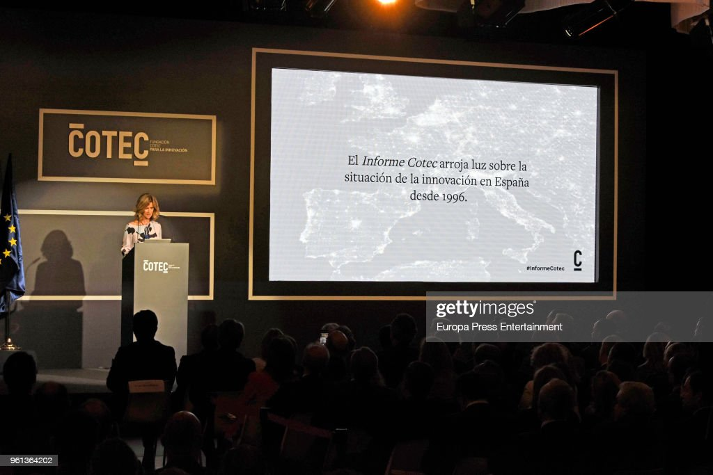 King Juan Carlos And King Felipe Attend COTEC Presentation