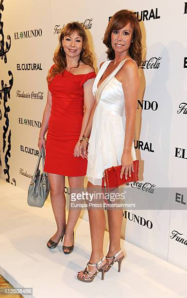 Cristina Goyanes and Lara Dibildos attend 'ValleInclan Theatre Awards' 2011 at Royal Theatre on April 18 2011 in Madrid Spain