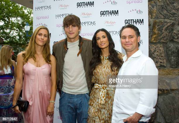 "Cristina Greeven Cuomo, actor Ashton Kutcher, actress Demi Moore and Niche Media CEO Jason Binn attend the ""Spread"" screening at the UA East Hampton..."