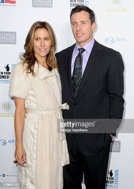 Cristina Greeven Cuomo and Chris Cuomo attend Stand Up For Heroes presented by the New York Comedy Festival and the Bob Woodruff Foundation at The...