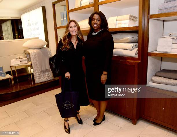Cristina Greeven Cuomo and Shari Ajayi attend Frette x Architectural Digest Home For The Holidays at Frette Madison Avenue on November 8 2017 in New...