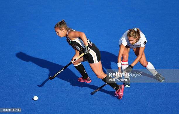Cristina Guinea of Spain and Lena Micheel of Germany in action during the quarter final game between Germany and Spain of the FIH Womens Hockey World...