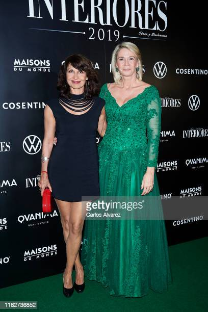 Cristina Higueras and Laura Falco attend 'Interiores' awards 2019 at the Palace Hotel on October 22, 2019 in Madrid, Spain.