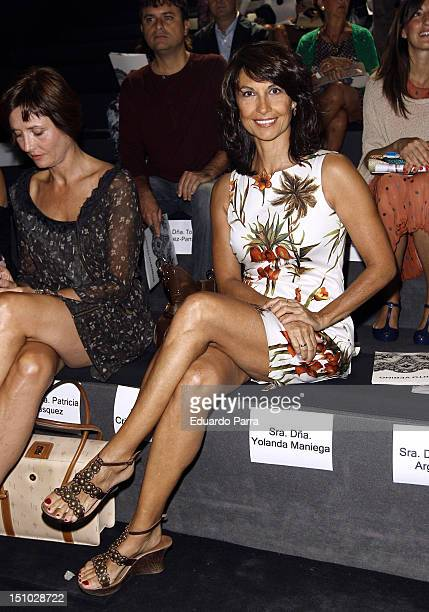 Cristina Higueras attends the Roberto Verino fashion show during the MercedesBenz Fashion Week Madrid Spring/Summer 2013 at Ifema on August 31 2012...