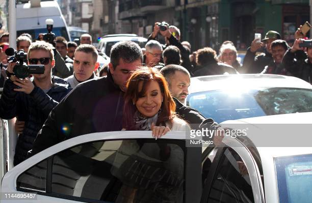 Cristina Kirchner Senator National arrives at the Patria Institute in Buenos Aires Argentina on 14 June 2017