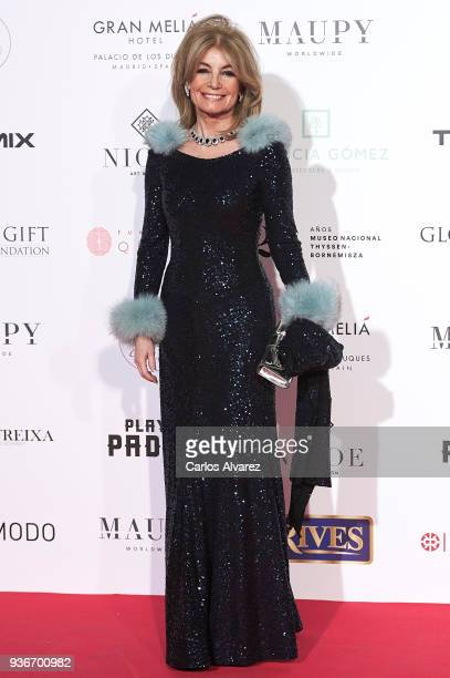 Cristina Llanes attends The Global Gift Gala at the ThyssenBornemisza museum on March 22 2018 in Madrid Spain