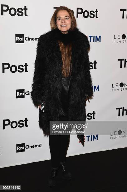 Cristina Lucchini attends the 'The Post' premiere on January 15 2018 in Milan Italy