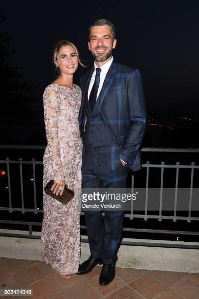 Cristina Marino and Luca Argentero attend Nastri D'Argento 2017 Awards Ceremony on July 1 2017 in Taormina Italy