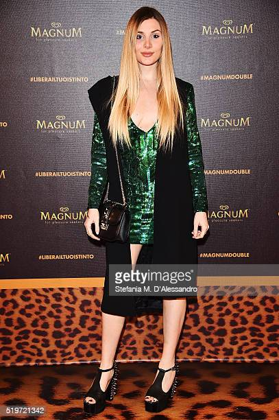 Cristina Musacchio attends 'Libera Il Tuo Istinto' Party by Magnum on April 7 2016 in Milan Italy