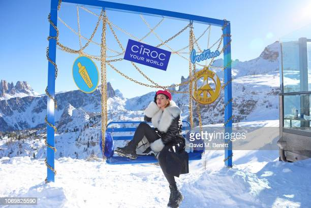Cristina Musacchio attends the CIROC luxury Vodka x Moschino highaltitude wonderland party hosted by Jeremy Scott and Jodie Harsh to celebrate the...