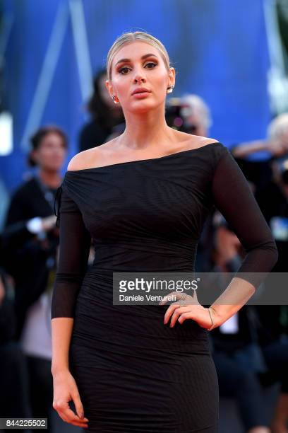 Cristina Musacchio walks the red carpet ahead of the 'Racer And The Jailbird ' screening during the 74th Venice Film Festival at Sala Grande on...