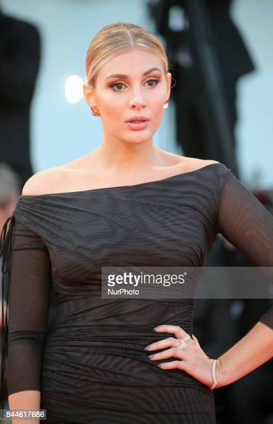 Cristina Musacchio walks the red carpet ahead of the 'Racer And The Jailbird ' screening during the 74th Venice Film Festival on September 8 2017 at...