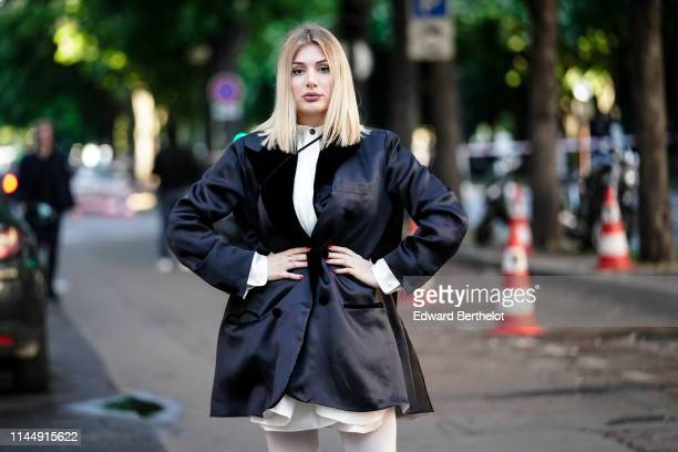 Cristina Mussacchio attends the Scandal A Paris JeanPaul Gaultier's New Fragance Launch Dinner Party At Lassere on April 24 2019 in Paris France